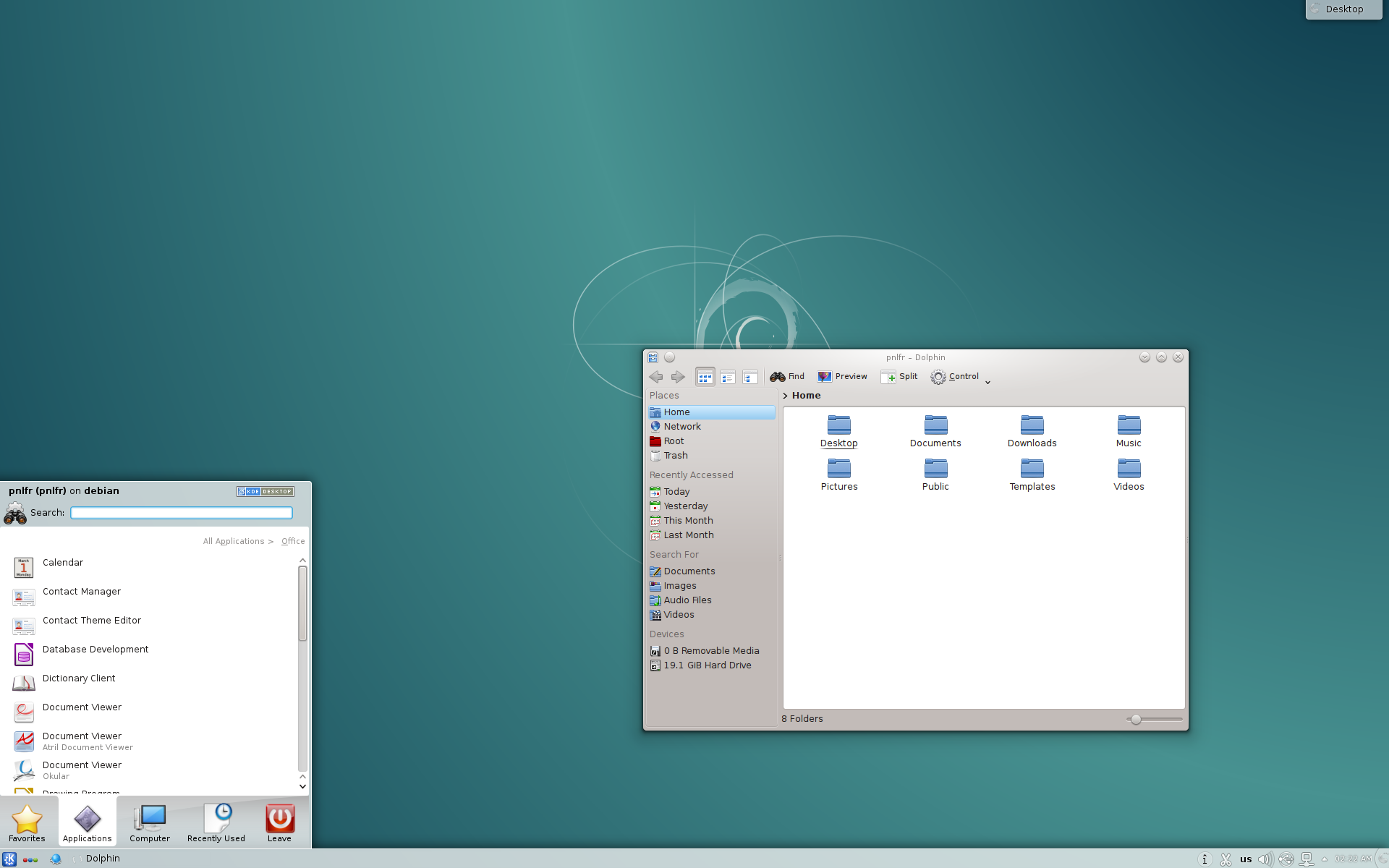 Debian 8 with KDE desktop